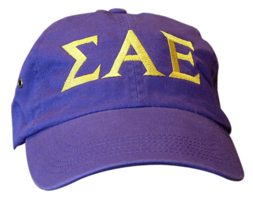 Sigma Alpha Epsilon Greek Letter Embroidered Hat