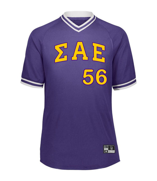 Sigma Alpha Epsilon Retro V-Neck Baseball Jersey