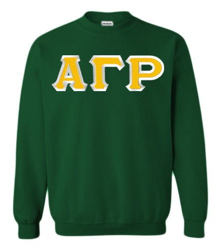 Alpha Gamma Rho Crewneck Sweatshirt with Sewn-On Letters