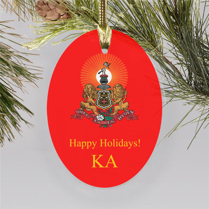 Kappa Alpha Color Crest Ornament