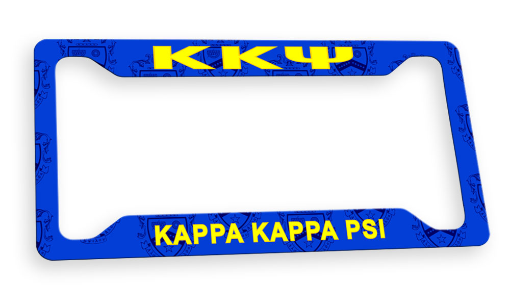 Kappa Kappa Psi New License Plate Frame
