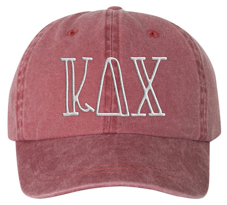Kappa Delta Chi Sorority Greek Carson Embroidered Hat