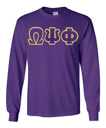 Omega Psi Phi Long Sleeve Greek Lettered Tee