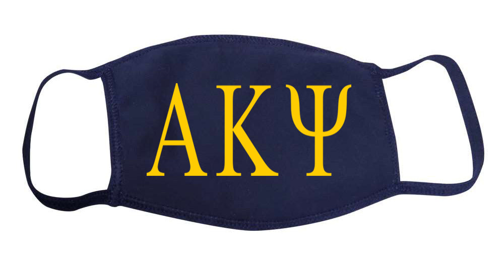 Alpha Kappa Psi Face Mask With Big Greek Letters
