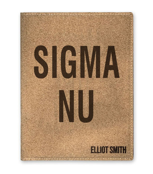 Sigma Nu Cork Portfolio with Notepad