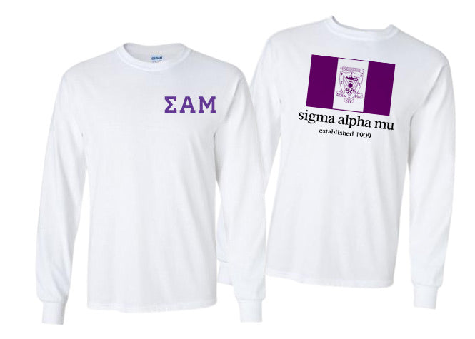 Sigma Alpha Mu Long Sleeve Flag Tee