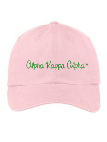 Alpha Kappa Alpha Nickname Embroidered Hat