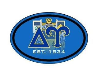 Delta Upsilon Color Oval Decal