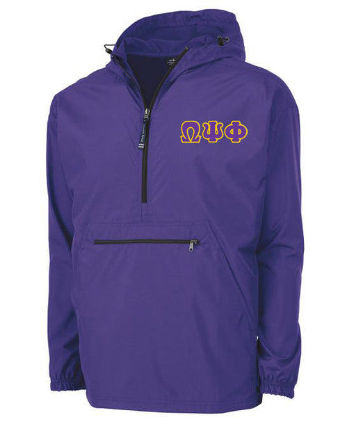 Omega Psi Phi Embroidered Pack and Go Pullover