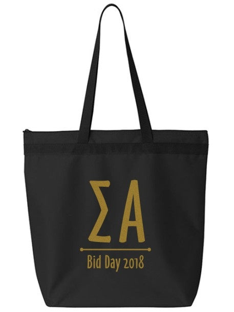 Sigma Alpha Oz Letters Event Tote Bag