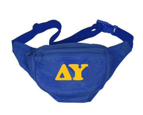 Delta Upsilon Fanny Pack Letters Layered Fanny Pack