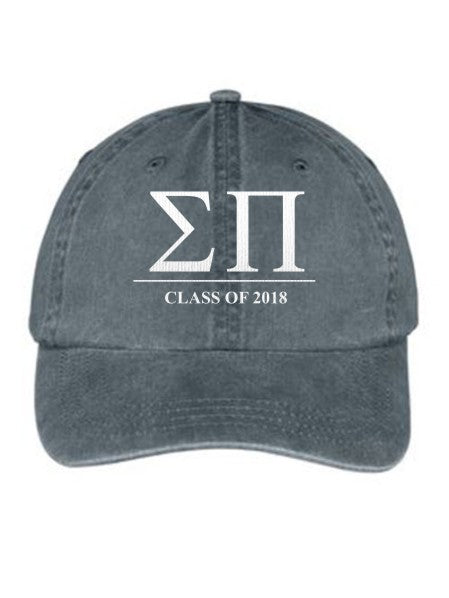 Sigma Pi Embroidered Hat with Custom Text