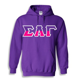 Sigma Lambda Gamma Two Toned Lettered Hooded Sweatshirt