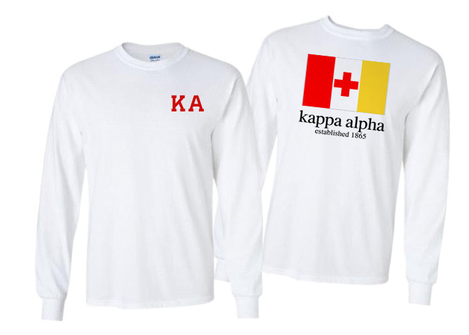 Kappa Alpha Long Sleeve Flag Tee