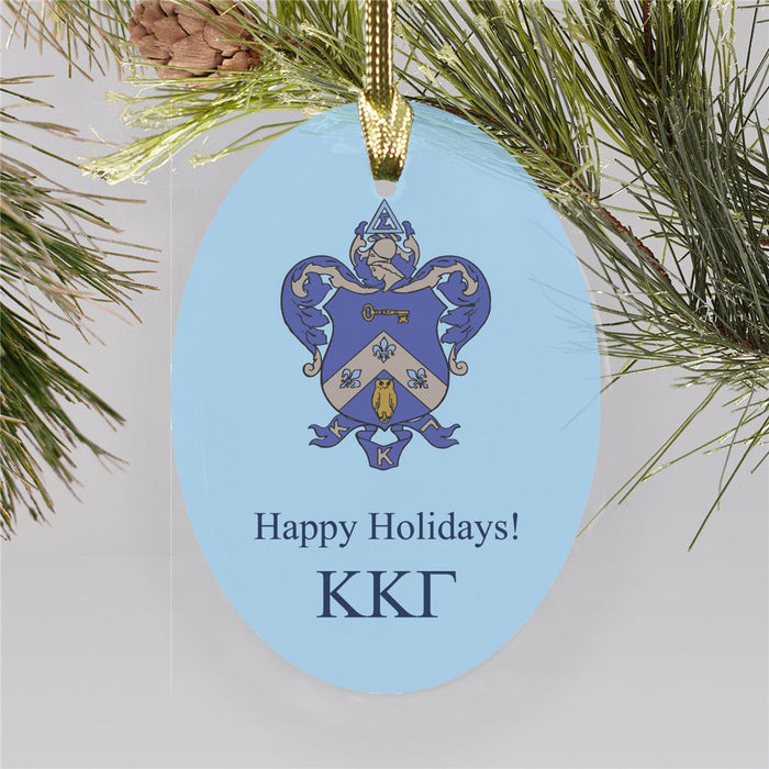 Kappa Kappa Gamma Color Crest Ornament