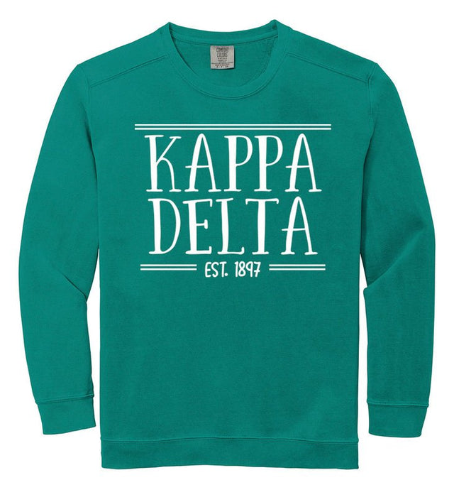 Kappa Delta Comfort Colors Custom Sorority Sweatshirt