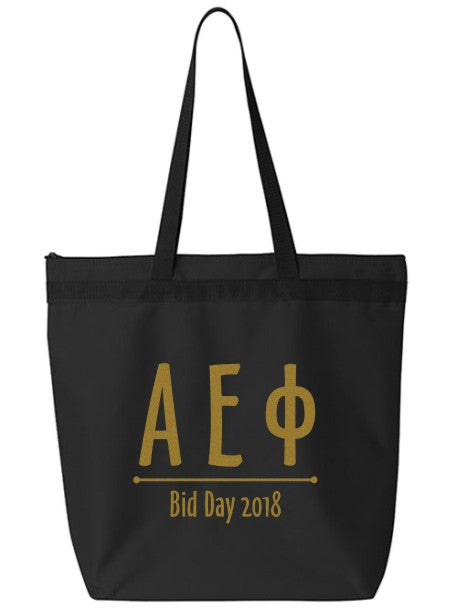 Alpha Epsilon Phi Oz Letters Event Tote Bag