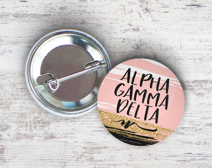 Alpha Gamma Delta Rose Gold Button
