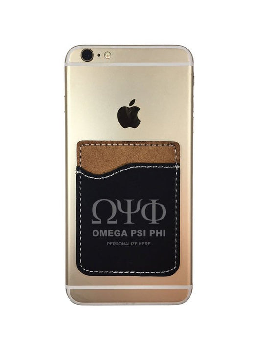 Omega Psi Phi Engraved Phone Wallet