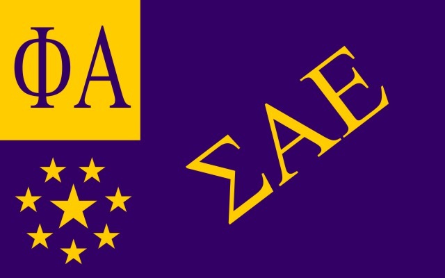 Sigma Alpha Epsilon Fraternity Flag Sticker
