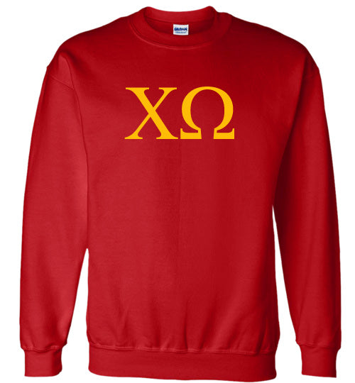 Chi Omega World Famous Lettered Crewneck Sweatshirt