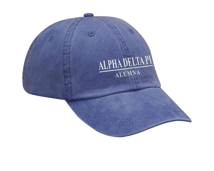 Alpha Delta Pi Line Year Embroidered Hat