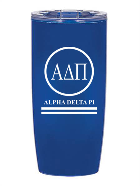 Alpha Delta Pi Circle Stripes 19 oz Everest Tumbler