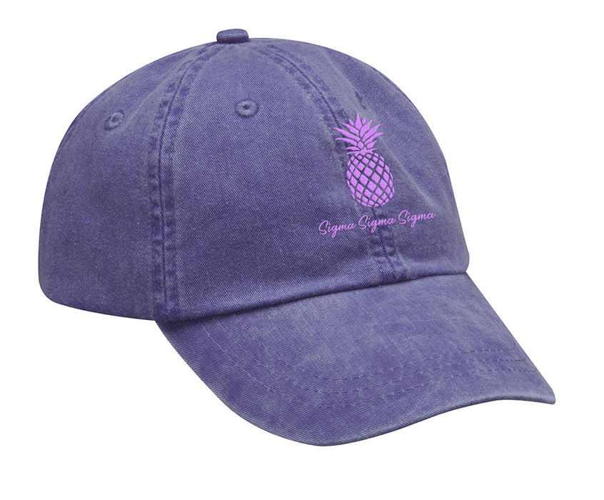 Sigma Sigma Sigma Pineapple Embroidered Hat