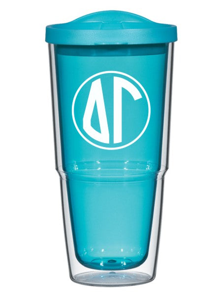 Delta Gamma Monogram 24oz Tumbler with Lid