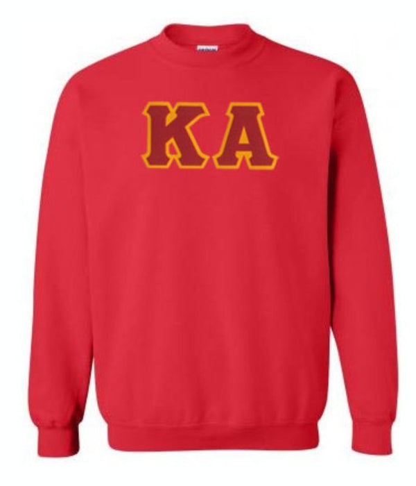 Kappa Alpha Crewneck Sweatshirt with Sewn-On Letters