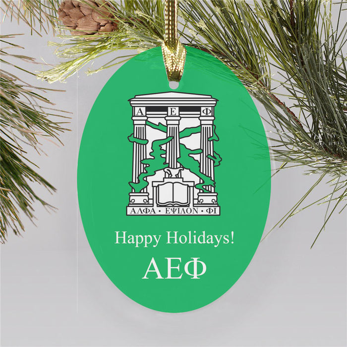 Alpha Epsilon Phi Color Crest Ornament