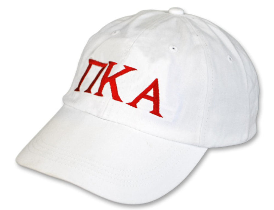 Pi Kappa Alpha Greek Letter Embroidered Hat