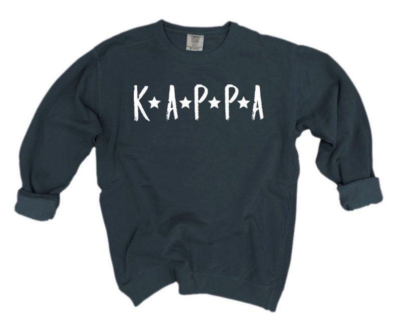 Kappa Kappa Gamma Comfort Colors Starry Nickname Sorority Sweatshirt