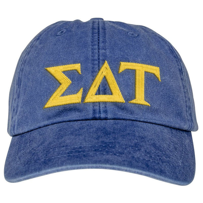 Sigma Delta Tau Greek Letter Embroidered Hat