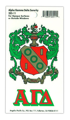 Alpha Gamma Delta Crest Decal
