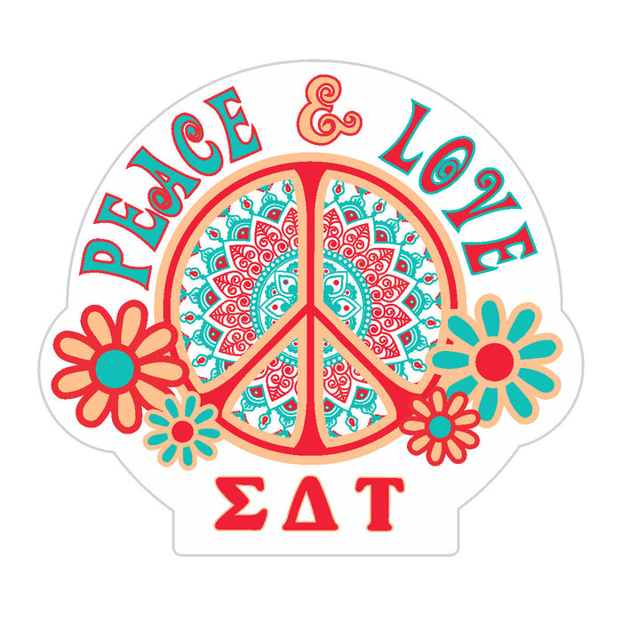 Sigma Delta Tau Peace Sticker