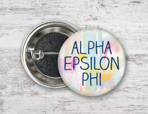 Alpha Epsilon Phi Pastel Strokes Button