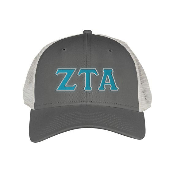 Zeta Tau Alpha Greek Trucker Cap