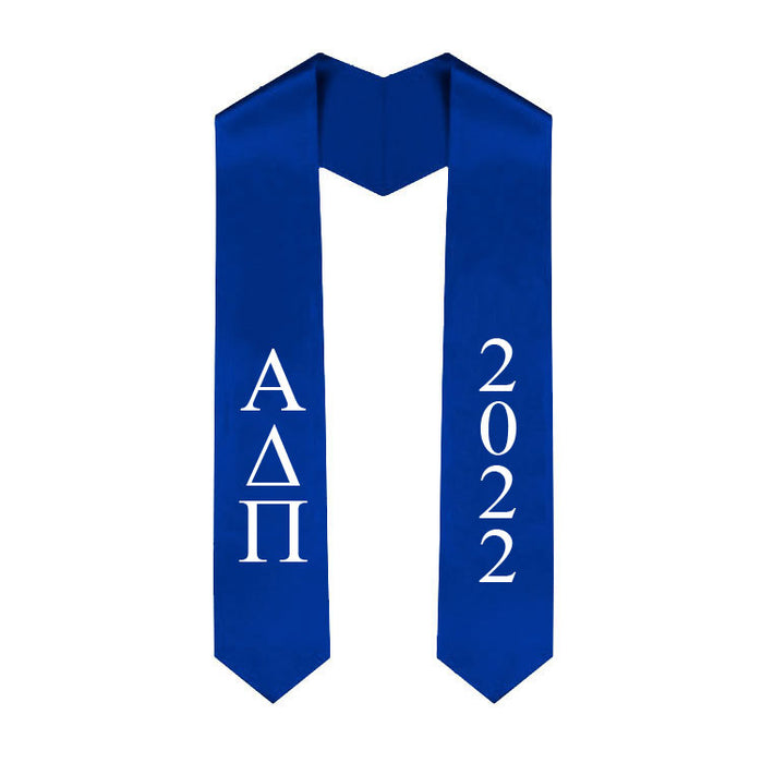 Alpha Delta Pi Vertical Grad Stole with Letters & Year