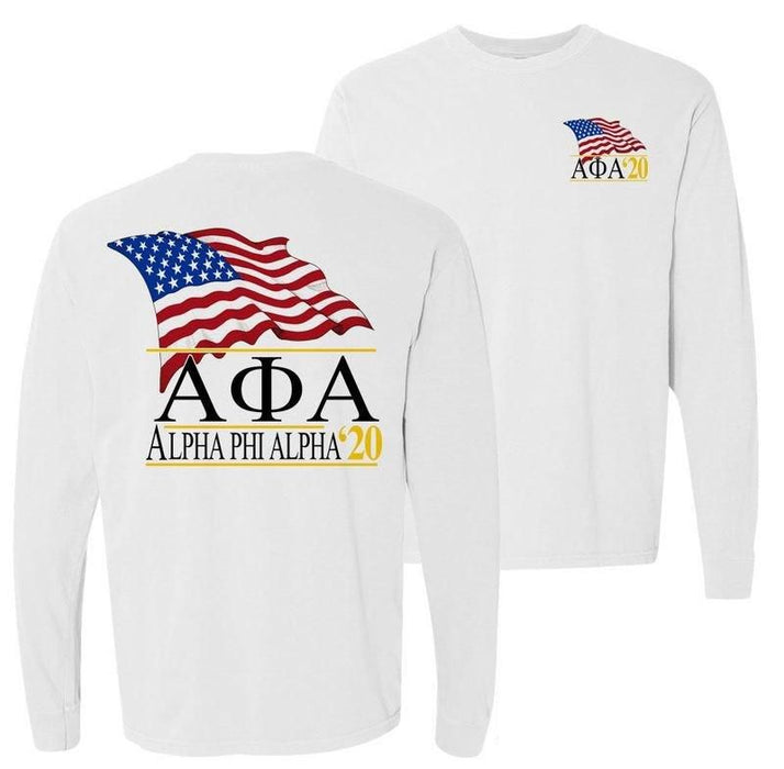 Alpha Phi Alpha Patriot Flag Comfort Colors Long Tee