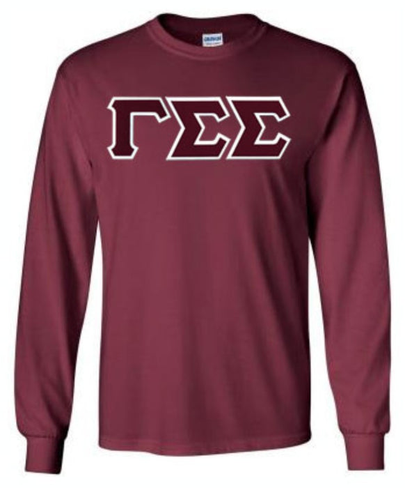 Gamma Sigma Sigma Long Sleeve Greek Lettered Tee