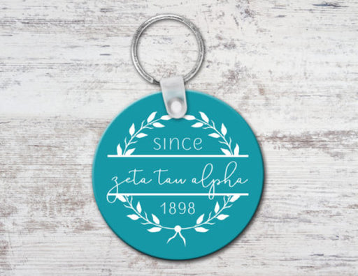 Zeta Tau Alpha Since Established Keyring