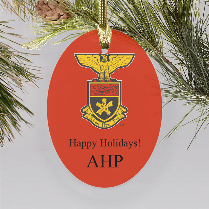 Alpha Eta Rho Color Crest Ornament