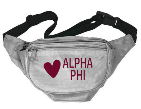 Alpha Phi Heart Fanny Pack
