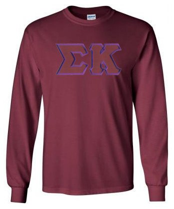 Sigma Kappa Long Sleeve Greek Lettered Tee