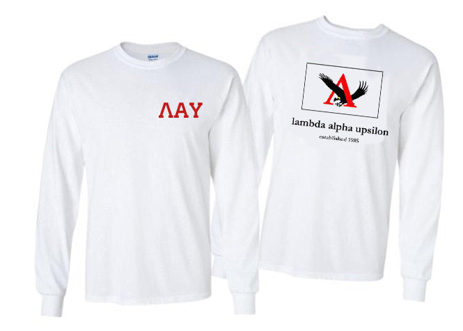 Lambda Alpha Upsilon Long Sleeve Flag Tee