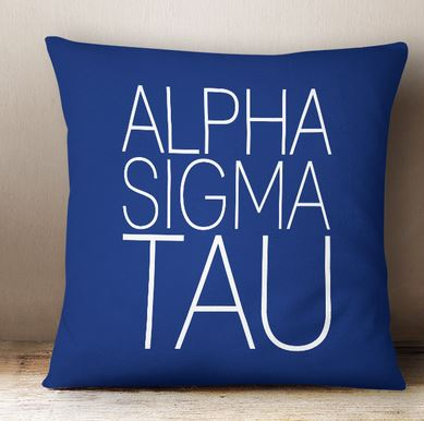 Alpha Sigma Tau Simple Text Throw Pillow