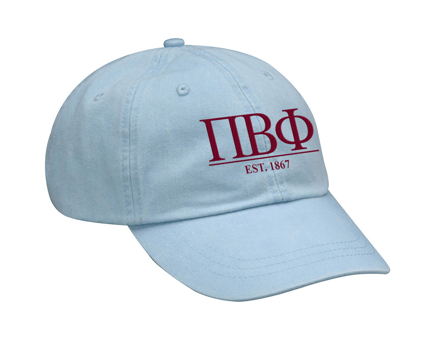 Pi Beta Phi Letters Year Embroidered Hat