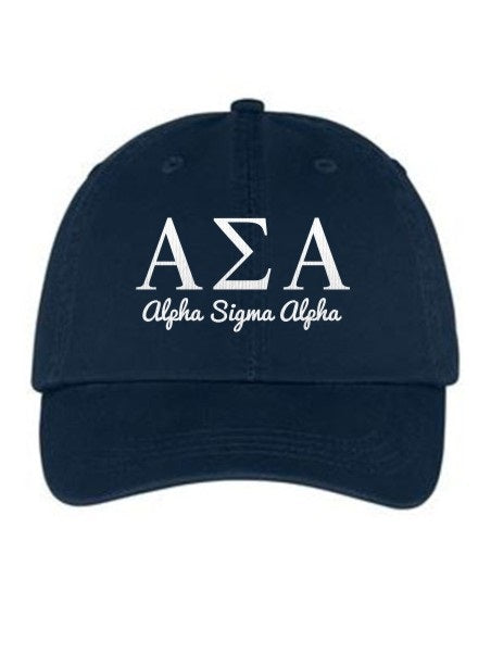 Alpha Sigma Alpha Collegiate Curves Hat