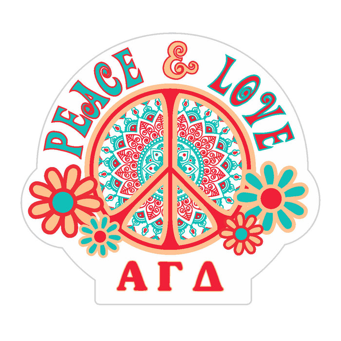 Alpha Gamma Delta Peace Sticker